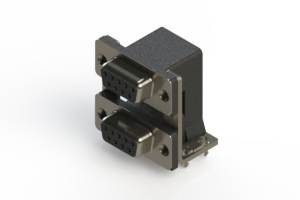 662-009-264-035 - Right-angle Dual Port D-Sub Connector
