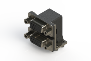 662-009-364-043 - Right-angle Dual Port D-Sub Connector