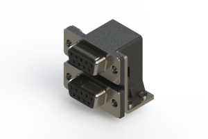 662-009-364-054 - Right-angle Dual Port D-Sub Connector