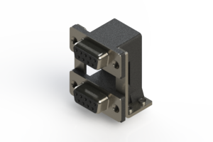 662-009-364-058 - Right-angle Dual Port D-Sub Connector