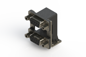 662-009-364-059 - Right-angle Dual Port D-Sub Connector