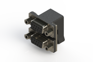 662-009-664-003 - Right-angle Dual Port D-Sub Connector