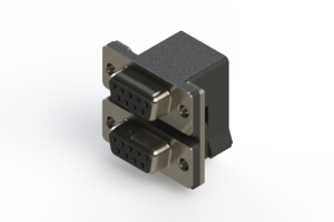 662-009-664-004 - Right-angle Dual Port D-Sub Connector