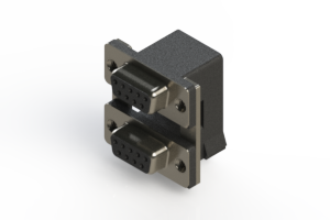 662-009-664-005 - Right-angle Dual Port D-Sub Connector