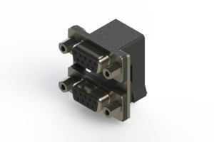 662-009-664-006 - Right-angle Dual Port D-Sub Connector