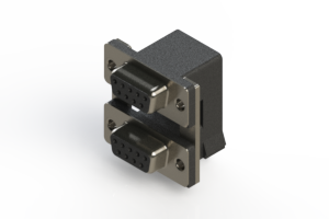 662-009-664-007 - Right-angle Dual Port D-Sub Connector