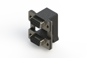 662-009-664-008 - Right-angle Dual Port D-Sub Connector