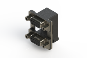 662-009-664-009 - Right-angle Dual Port D-Sub Connector