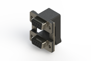 662-009-664-00C - Right-angle Dual Port D-Sub Connector