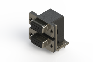 662-009-664-032 - Right-angle Dual Port D-Sub Connector
