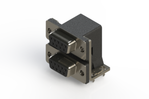 662-009-664-034 - Right-angle Dual Port D-Sub Connector