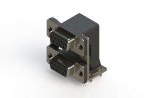 662-009-664-035 - Right-angle Dual Port D-Sub Connector