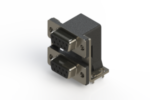 662-009-664-037 - Right-angle Dual Port D-Sub Connector