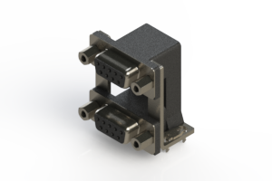 662-009-664-039 - Right-angle Dual Port D-Sub Connector