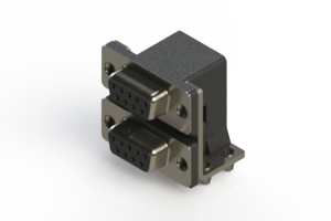 662-009-664-041 - Right-angle Dual Port D-Sub Connector