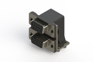 662-009-664-042 - Right-angle Dual Port D-Sub Connector