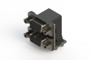 662-009-664-043 - Right-angle Dual Port D-Sub Connector