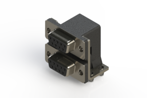 662-009-664-044 - Right-angle Dual Port D-Sub Connector