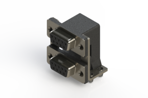 662-009-664-045 - Right-angle Dual Port D-Sub Connector