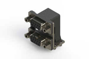 662-009-664-046 - Right-angle Dual Port D-Sub Connector