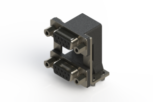 662-009-664-049 - Right-angle Dual Port D-Sub Connector
