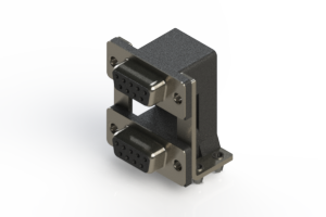 662-009-664-04A - Right-angle Dual Port D-Sub Connector