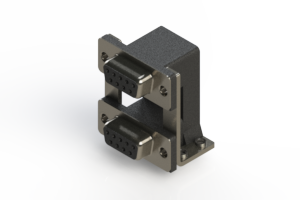 662-009-664-050 - Right-angle Dual Port D-Sub Connector