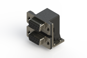 662-009-664-052 - Right-angle Dual Port D-Sub Connector
