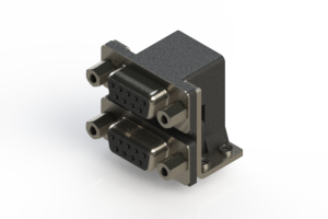 662-009-664-053 - Right-angle Dual Port D-Sub Connector