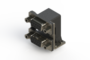 662-009-664-056 - Right-angle Dual Port D-Sub Connector