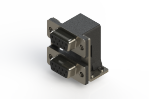662-009-664-057 - Right-angle Dual Port D-Sub Connector