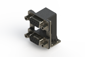 662-009-664-059 - Right-angle Dual Port D-Sub Connector