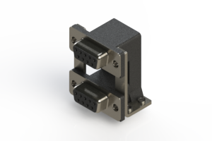 662-009-664-05A - Right-angle Dual Port D-Sub Connector