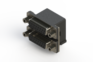 662-015-264-003 - Right-angle Dual Port D-Sub Connector