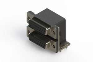 662-015-264-034 - Right-angle Dual Port D-Sub Connector