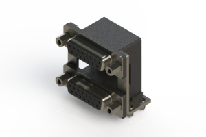 662-015-264-049 - Right-angle Dual Port D-Sub Connector