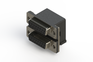 662-015-364-004 - Right-angle Dual Port D-Sub Connector