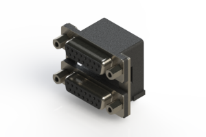 662-015-364-006 - Right-angle Dual Port D-Sub Connector