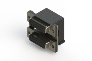 662-015-364-007 - Right-angle Dual Port D-Sub Connector
