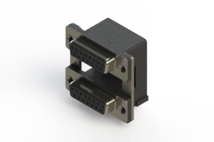 662-015-364-008 - Right-angle Dual Port D-Sub Connector