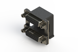 662-015-364-009 - Right-angle Dual Port D-Sub Connector