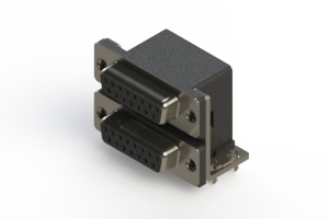 662-015-364-031 - Right-angle Dual Port D-Sub Connector
