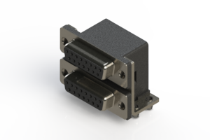 662-015-364-041 - Right-angle Dual Port D-Sub Connector