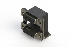 662-015-364-050 - Right-angle Dual Port D-Sub Connector
