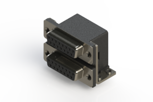 662-015-364-052 - Right-angle Dual Port D-Sub Connector