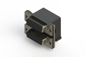 662-015-664-004 - Right-angle Dual Port D-Sub Connector