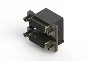 662-015-664-006 - Right-angle Dual Port D-Sub Connector