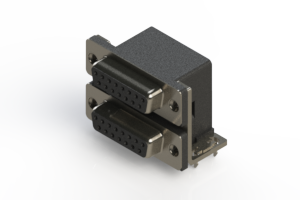 662-015-664-031 - Right-angle Dual Port D-Sub Connector