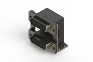 662-015-664-058 - Right-angle Dual Port D-Sub Connector