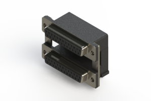 662-025-264-000 - Right-angle Dual Port D-Sub Connector